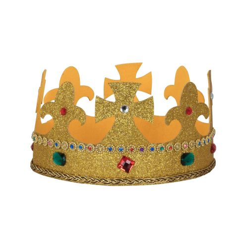 Kings Crown Fabric Nativity Book Day Fancy Dress Prop